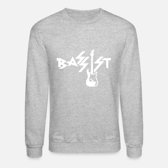 Drums Hoodies & Sweatshirts - bassist - Unisex Crewneck Sweatshirt heather gray