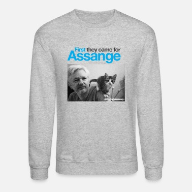 Assange Case First they came for Assange - Unisex Crewneck Sweatshirt