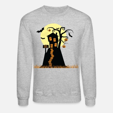 House Haunted House Halloween - Unisex Crewneck Sweatshirt