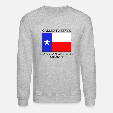 Fire Texas San Antonio LDS Mission Called to Serve Flag - Unisex Crewneck Sweatshirt