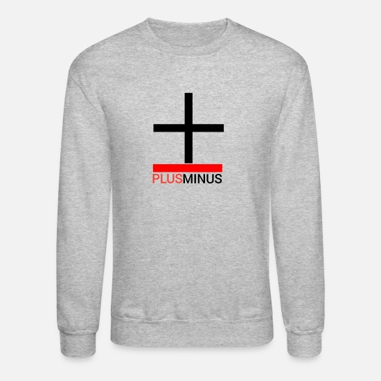 Minus Hoodies & Sweatshirts - Plus Minus Logo - Unisex Crewneck Sweatshirt heather gray