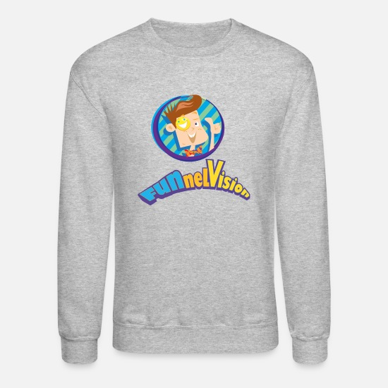 Kids Hoodies & Sweatshirts - Funnel Vision Adult Premium T-Shirt - Unisex Crewneck Sweatshirt heather gray