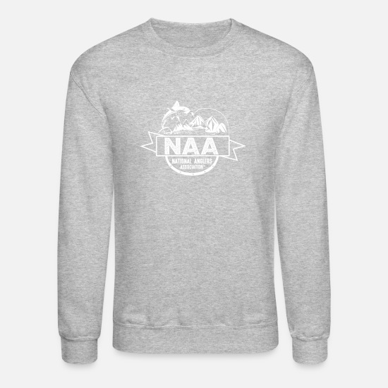 Crook Hoodies & Sweatshirts - National Anglers Association - Unisex Crewneck Sweatshirt heather gray