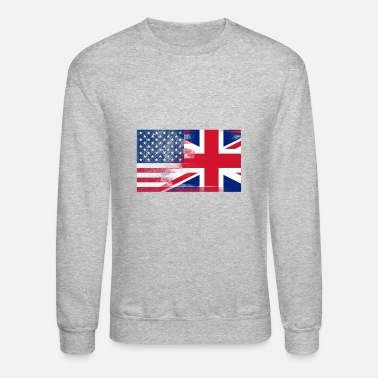 Kingdom British American Half United Kingdom Half America - Unisex Crewneck Sweatshirt