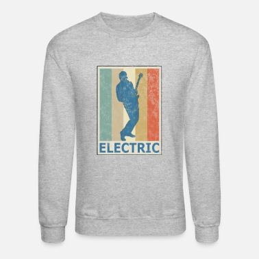Instrument Retro Vitage Style Electric Guitar Player Bass - Unisex Crewneck Sweatshirt