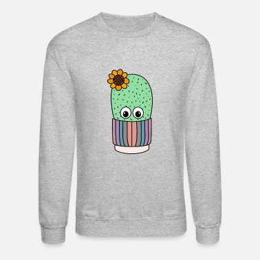 Chic Pretty Cactus In Shabby Chic Pot - Unisex Crewneck Sweatshirt