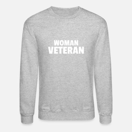 Daycare Hoodies & Sweatshirts - Woman Veteran Memorial Day Usa America - Unisex Crewneck Sweatshirt heather gray