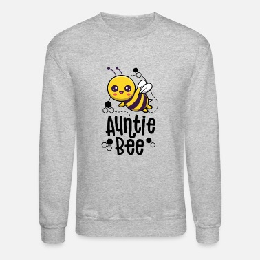 Family Bee Shirts Auntie Aunt Birthday First Bee - Unisex Crewneck Sweatshirt
