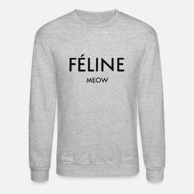 Luxury Feline Luxury Designer Logo Cat lovers - Unisex Crewneck Sweatshirt