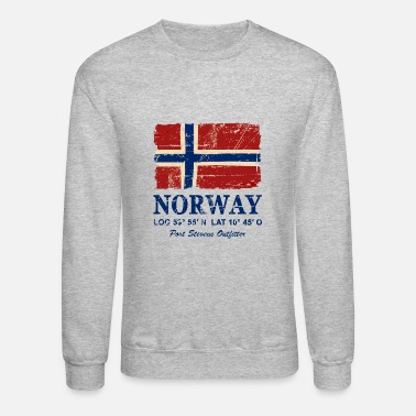 Norway Norway Flag - Vintage Look - Unisex Crewneck Sweatshirt