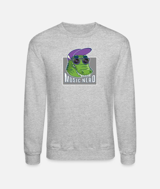 Turn Table Hoodies & Sweatshirts - Music Nerd - Unisex Crewneck Sweatshirt heather gray