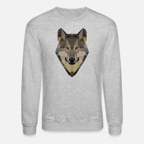 Love Hoodies & Sweatshirts - I love wolves - Wolf Design - Unisex Crewneck Sweatshirt heather gray
