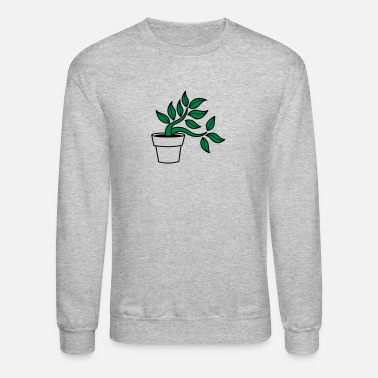 Flower Pot tree growing out of a flower pot - Unisex Crewneck Sweatshirt