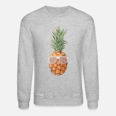 Sunglasses Pineapple with Sunglasses 80's - Unisex Crewneck Sweatshirt