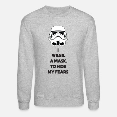 Trooper Storm Troopers Mask - Black Text - Crewneck Sweatshirt