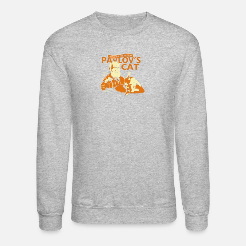 Pavlov Hoodies & Sweatshirts - Pavlovs Cat - Unisex Crewneck Sweatshirt heather gray