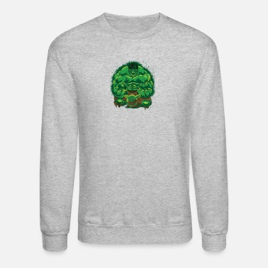 Hulk Hulk and Yoda Long Sleeve - Unisex Crewneck Sweatshirt