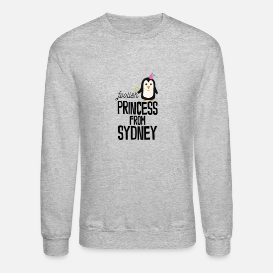 Skies Hoodies & Sweatshirts - foolish Princess from Sydney - Unisex Crewneck Sweatshirt heather gray