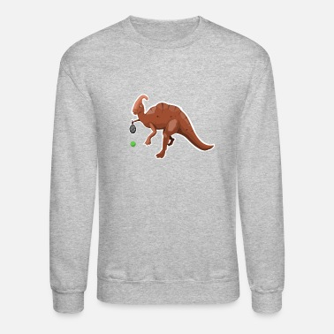 Dino Dino and his love for tennis - Unisex Crewneck Sweatshirt