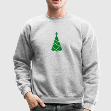 Christmas tree pointy with star - Crewneck Sweatshirt