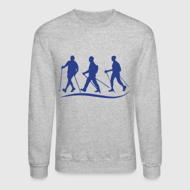 nordic walking stick before logo - Crewneck Sweatshirt