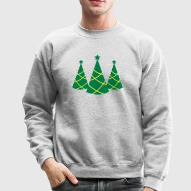 Christmas tree pointy with star three - Crewneck Sweatshirt