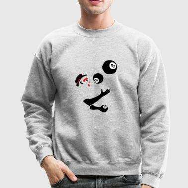 8 billiard ball juggler _2 - Crewneck Sweatshirt