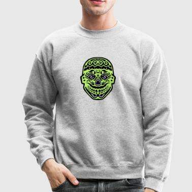 mexican skull dead head 122 - Crewneck Sweatshirt