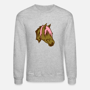 Horse Head horse head cartoon face 22 - Crewneck Sweatshirt