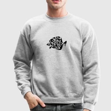 exotic fish tribal 502 - Crewneck Sweatshirt