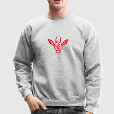 gazelle funny character cartoon animals - Crewneck Sweatshirt