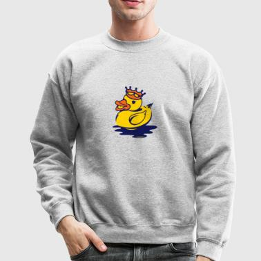 A duck with a crown - Crewneck Sweatshirt