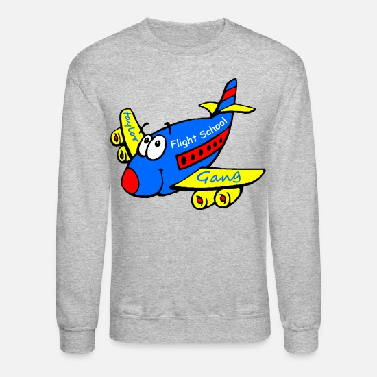 Gang Hoodies & Sweatshirts - Taylor Gang Flight School - stayflyclothing.com - Unisex Crewneck Sweatshirt heather gray