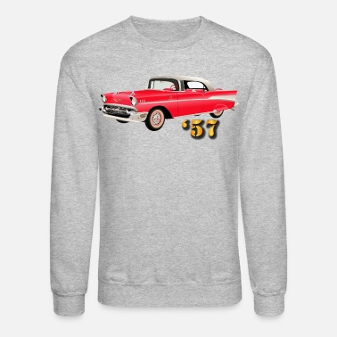 1957 Vehicle - 57 Chery - Red - Crewneck Sweatshirt