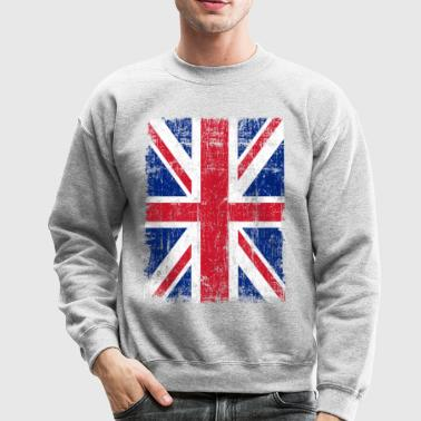 Union Jack Flag Grunge - Crewneck Sweatshirt
