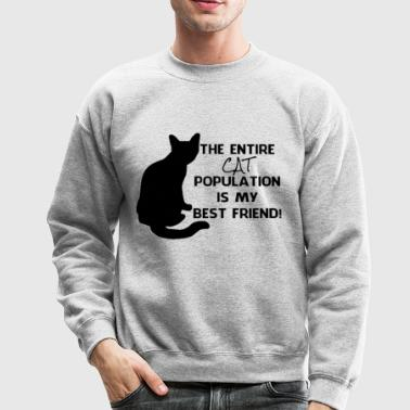 The cat population  - Crewneck Sweatshirt
