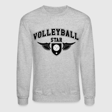 Volleyball star - Crewneck Sweatshirt