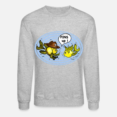 Fins Up Fins Up FabSpark  Hands Up Clear Circle  - Unisex Crewneck Sweatshirt