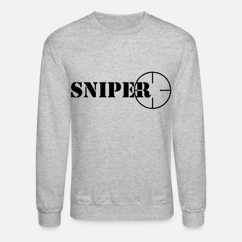 Computer Hoodies & Sweatshirts - Sniper symbol - Unisex Crewneck Sweatshirt heather gray