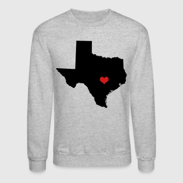 Heart (Love) Texas on Capital, Austin - Crewneck Sweatshirt