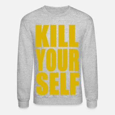 666 KILL YOURSELF BOLD - YELLOW - Crewneck Sweatshirt