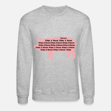 Strip Bacon Strips - Unisex Crewneck Sweatshirt