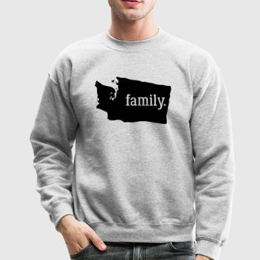 Washington Cool Gift Family State Shirt Dark - Crewneck Sweatshirt
