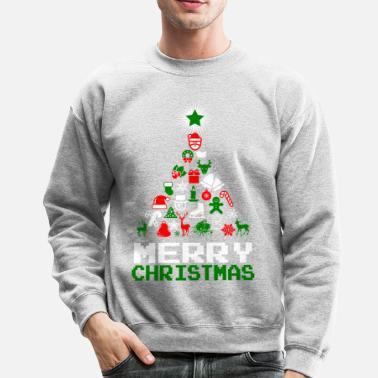 Ornament Ornament Merry Christmas Tree - Crewneck Sweatshirt