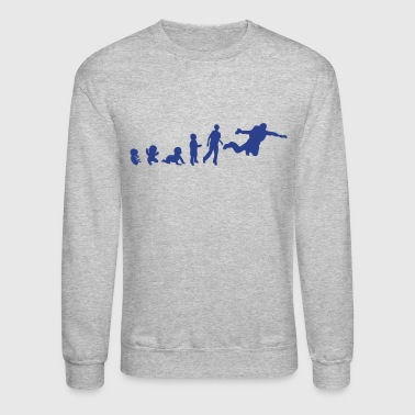 jumping evolution human sports base - Crewneck Sweatshirt