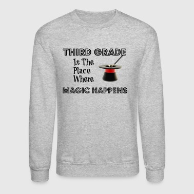 ThirdGradeMagicBLK - Crewneck Sweatshirt