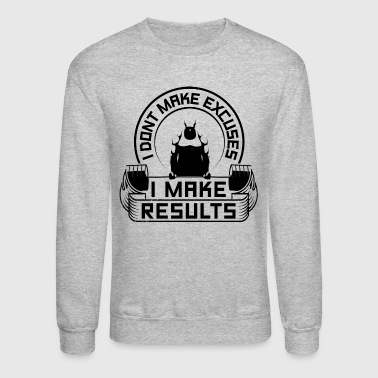 Results Gym Quotes Sports - Crewneck Sweatshirt