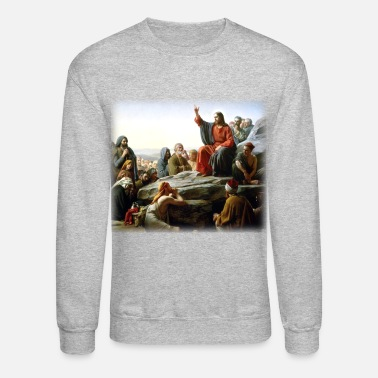 Christ carl_heinrich_bloch__sermon_on_the_mount - Crewneck Sweatshirt