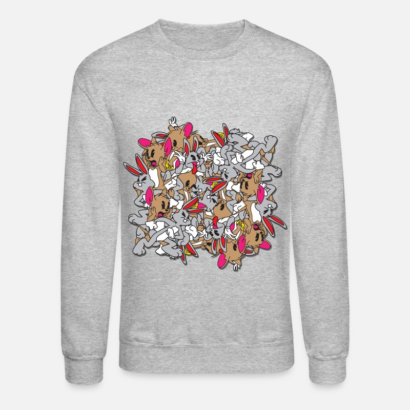 Cool Hoodies & Sweatshirts - bugz and Jerri - Unisex Crewneck Sweatshirt heather gray