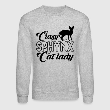 Crazy Sphynx Cat Lady Shirt - Crewneck Sweatshirt